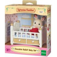 Sylvanian Families Chocolate Rabbit Μωρό & Κούνια (030305-5017)