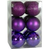 Χριστουγεννιάτικη μπάλα 6εκ. Set 24τμχ. ΜΩΒ (04.B-6012-PUR)