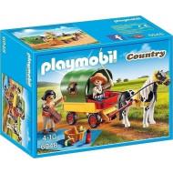 PLAYMOBIL Country Άμαξα Με Πόνυ και Παιδάκια (6948)
