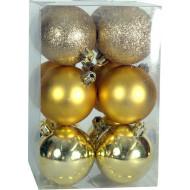 Χριστουγεννιάτικη μπάλα 6εκ. Set 24τμχ. ΧΡΥΣΗ (04.B-6012-G)