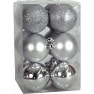 Χριστουγεννιάτικη μπάλα 6εκ. Set 24τμχ. ΑΣΗΜΙ (04.B-6012-S)