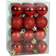 Χριστουγεννιάτικη Μπάλα 4 εκ Set 24 τμχ ΚΟΚΚΙΝΟ (04.B-4024-R)