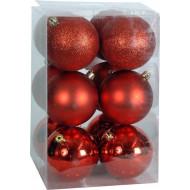 Χριστουγεννιάτικη μπάλα 8εκ. Set 24τμχ. ΚΟΚΚΙΝΗ (04.B-8012-R)