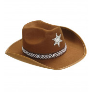 """SHERIFF HAT"" brown"