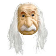 """EINSTEIN MASK WITH HAIR"""