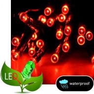 100 Λαμπάκια LED Επεκτεινόμενα με Μετασχηματιστή Πράσινο καλώδιο κόκκινο λαμπάκι