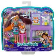 Enchantimals Κούκλα & Ζωάκι Φιλαράκι Με Αξεσουάρ (7 Σχέδια) (FCC62)