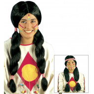 """DELUXE INDIAN MAN & WOMAN WIG"" inpolybag - 2 styles ass"