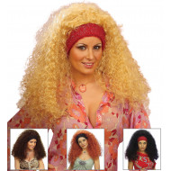 """RAMONA WIG"" in polybag - 4 colorsass.: black, blonde, brown, auburn"
