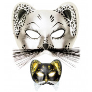 """PANTHER EYEMASK"" 2 color combinations ass.: black/gold & silver/black"