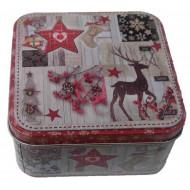 Χριστουγεννιατικο Μεταλλικο Κουτι Αποθηκευσης 12Χ12Χ6Εκ (04.B-1251)