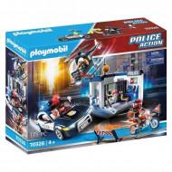 Playmobil Αστυνομικός Σταθμός με Ελικόπτερο και Περιπολικό (70326)