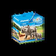 Ρινόκερος με το μικρό του