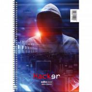 Τετράδιο Σπιράλ 3 Θέματα 17x25 Hacker - 4 Σχέδια - 1 Τεμάχιο Salko (9853)