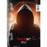 Τετράδιο Σπιράλ 2 Θέματα 21x29 Hacker - 4 Σχέδια - 1 Τεμάχιο Salko (9857)
