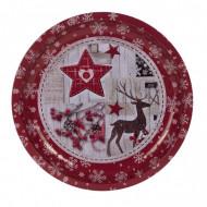 Δίσκος Μεταλλικός 26 εκ. Χριστουγεννιάτικος - 2 Σχέδια - 1 Τεμάχιο Epam (04.B-0051)