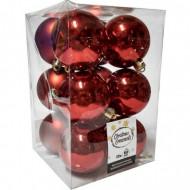 Μπάλα Κόκκινη Χριστουγενιάτικη σετ 6 τμχ