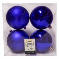 Μπάλα Μπλε Χριστουγεννιάτη Σετ 4 τμχ