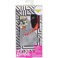 Mattel Barbie Πρωϊνά Σύνολα - Διάσημες Μόδες - DC Comics Wonder Woman Polka Dot Dress Fashion FYW81 / FXK86