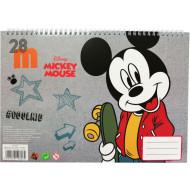 Mickey Street Μπλοκ Ζωγραφικής Α4+Stickers-40 Φύλλα (340-82416)