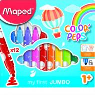 ΜΑΡΚΑΔΟΡΟΙ MAPED COLOR'PEPS MAXI 12 ΧΡΩΜΑΤΩΝ (MAP846020)