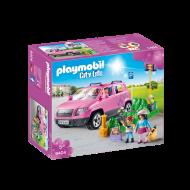 Playmobil Οικογενειακό αμάξι και υπαίθριος χώρος στάθμευσης (9404)