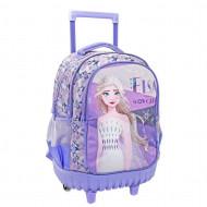 Τσάντα Τρόλλεϋ Δημοτικού Disney Frozen 2 Elsa The Snow Queen με 3 Θήκες