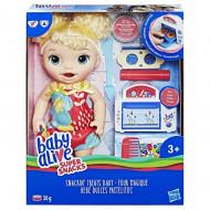 Baby Alive Super Snack Snackin Treats Baby Ξανθό Μωράκι (E1947)