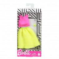Mattel Barbie Fashion Βραδινά Σύνολα Κίτρινη Φούστα, Ροζ Μπλούζα Και 2 Αξεσουάρ FND47 / GHW82