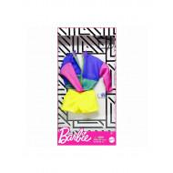 Mattel Barbie Fashion Βραδινά Σύνολα Πολύχρωμο Σακάκι, Κίτρινο Σορτς Και 2 Αξεσουάρ FND47 / GHW88