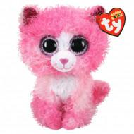 Χνουδωτό Γάτα Ροζ Σγουρομάλλα 15 Εκ. 1607-36308