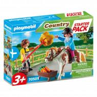 Playmobil Country Starter Pack Φροντίζοντας Το Άλογο 70505