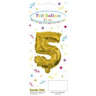 Decorata Party Gold Foil No 5 Μπαλόνι - Χρυσό (089646)