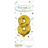 Decorata Party Gold Foil No 8 Μπαλόνι - Χρυσό (089649)