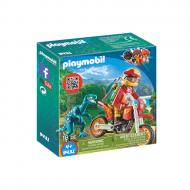 PLAYMOBIL Εξερευνητής με Motocross και μικρό δεινόσαυρο