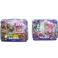 Enchantimals Κούκλα & Ζωάκι Φιλαράκι Με Όχημα (2 Σχέδια) (FJH11)