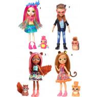 Enchantimals Κούκλα & Ζωάκι Φιλαράκι Νέοι Φίλοι (4 Σχέδια) (FNH22)