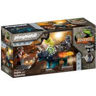 Playmobil Dinos Rise Τρικεράτωψ Με Πανοπλία-Κανόνι Και Μαχητές (70627)