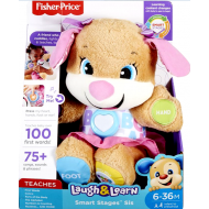 Fisher Price Laugh & Learn Εκπαιδευτικό Ροζ Σκυλάκι Smart Stages (FPP82)