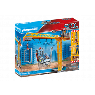 PLAYMOBIL Ανυψωτικός γερανός βαρέως τύπου με τηλεχειριστήριο και σκαλωσιές 70441