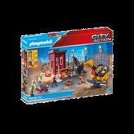 PLAYMOBIL Μικρός εκσκαφέας με ερπύστριες και δομικά στοιχεία 70443