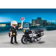 Playmobil Βαλιτσάκι Αστυνόμος με μοτοσικλέτα (5648)