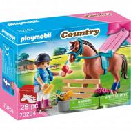 Playmobil Gift Set Φροντίζοντας Το Άλογο 70294