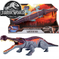 Mattel – Jurassic World – Δεινόσαυρος Με Κινούμενα Μέλη & Λειτουργία Επίθεσης Sarcosuchus GVG68