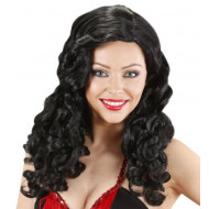 """BLACK JESSICA WIGS"" (long curly hair)"