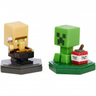 Mattel Minecraft Boost Mini 2 Φιγούρες Με Τσιπάκι Repairing Villager And Mining Creeper GKT41 / GMD15