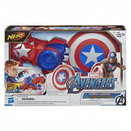 Hasbro Nerf Marvel Avengers Power Moves Role Play Captain America Ασπίδα Και Γάντι E7375