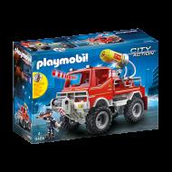 PLAYMOBIL Όχημα Πυροσβεστικής με τροχαλία ρυμούλκησης (9466)