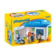 Playmobil 1.2.3 Αστυνομικό Τμήμα Βαλιτσάκι (9382)