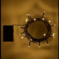 Χριστουγεννιατικα Φωτακια Μπαταριας 20 Λαμπακια Θερμο Λευκο Χρωμα Με Πρασινο Καλωδιο 2.4Μ